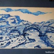Arte: DIBUJO TECNICA TINTA..ESCUELA CATALANA 1964 FIRMA A ESCUDRIÑAR..INTERESANTE !!! . Lote 74083863