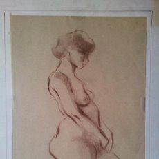 Arte: DIBUJO TECNICA CARBONCILLO..ESCUELA CATALANA ENRIC BERTRAN I VIVES  . Lote 74086171