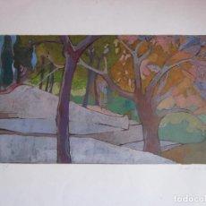 Arte: ANTIGUO DIBUJO ORIGINAL TIPO LITOGRAFIA, NUMERADA Y FIRMADA Y DE 1976, A ESTUDIAR. Lote 74582491
