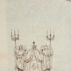 Arte: BOCETO DE ESCULTURA. DIBUJO A TINTA SOBRE PAPEL. RIUS MASSAGUE. CIRCA 1940.. Lote 69583477
