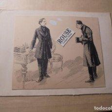 Arte: JOSE CUCHY ARNAU - ARECIBO ( PUERTO RICO ) 1857 BARCELONA 1925 DIBUJO A PLUMA ORIGINAL - 15X12,5 CM . Lote 74873671
