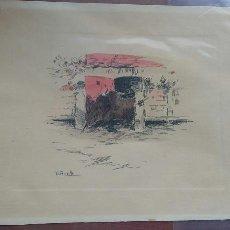 Arte: PINTOR TERRUELLA - PLUMILLA TAURINA - P. S. XX. Lote 75098962