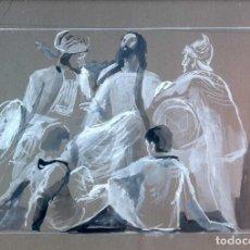 Arte: BOCETO DE JOSE CABALLERO (HUELVA 1915-MADRID 1991) PARA LA PELICULA PARSIFAL DE DANIEL MANGRANÉ 1950. Lote 76387611