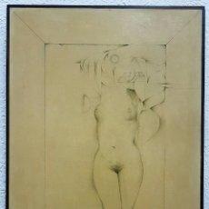 Arte: GABRIEL ALBERCA (ARGEL 1934-MÁLAGA 2011), EXTRAORDINARIO DIBUJO (DESNUDO FEMENINO) FIRMADO.. Lote 62333294