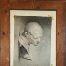 Arte: G3-069. DIBUJO AL CARBON. A DOS CARAS. JOVEN Y BUSTO. SIGLO XIX. . Lote 76589987