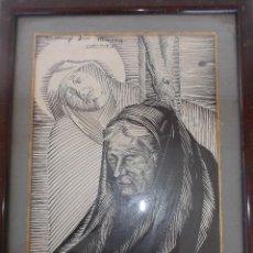 Arte: LUIS MACAYA DIBUJO TINTA Y ACUARELA ORIGINAL DEDICADO A JOSE MURAY ENMARCADO 38 X 30 CMS APROX. Lote 76679767