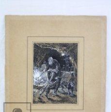 Arte: ANTIGUO DIBUJO ORIGINAL DE JOSÉ / JOSEP SERRA PORSÓN - BRUJERÍAS - FIRMADO - MEDIADOS SIGLO XIX. Lote 76860527