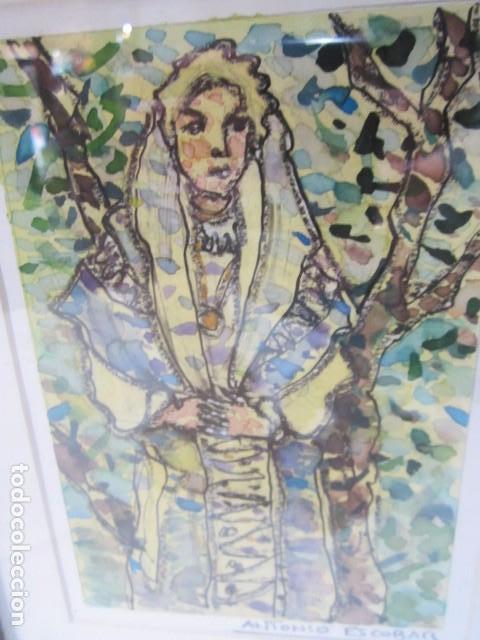 antonio escobar. dibujo original enmarcado. ma - Comprar Dibujos ...