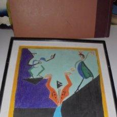 Arte: (M) VICENTE ESCUDERO URIVE - VALLADOLID 1888- BARCELONA 1980 , DIBUJO REALIZADO CON CERAS 57XX39,5. Lote 77302177