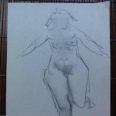 Arte: CARMELO PASTOR DESNUDO MUJER. Lote 77335001