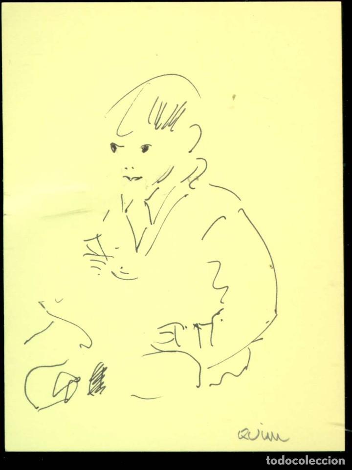 JOAQUIM MONTSERRAT CAMPS. PINTOR NACIDO EN SABADELL EN 1932. (Arte - Dibujos - Contemporáneos siglo XX)