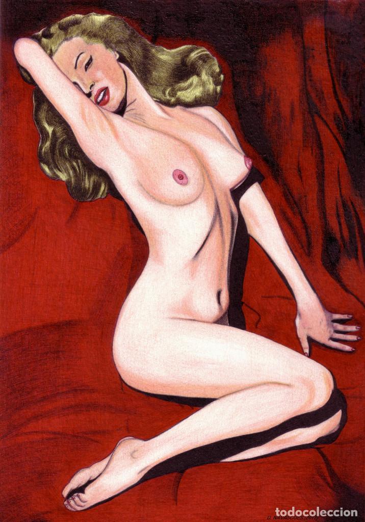 DIBUJO HIPERREALISTA (RETRATO). * MARILYN MONROE: EL MITO * (TÉCNICA MIXTA). DE D. NAVASCUÉS. (Arte - Dibujos - Contemporáneos siglo XX)