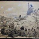 Arte: FRANZ GAILLIARD (BÉLGICA, 1861-1932) - SERMÓN DE LA MONTAÑA. Lote 27956849