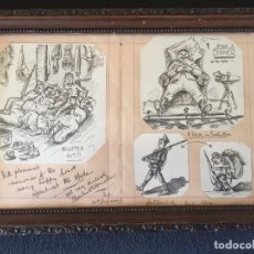 Arte: I GUERRA MUNDIAL, DIBUJO EN LÁPIZ, PRECIOSO.HATFIELD 1914. Lote 78803085