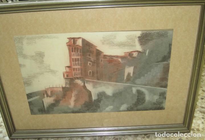 cuadro de m.c. santos casas colgantes 60 x 40 c - Comprar Dibujos ...