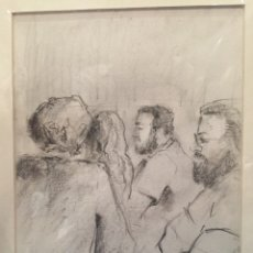 Arte - DIBUJO A LAPIZ, perfiles sin firmar. 33x25cm - 78940781