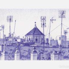 Arte: DETALLES DE DIBUJO/DRAWING/DESSIN ORIGINAL A BOLÍGRAFO - AZOTEAS DE CÁDIZ IV - AUTOR: M.ALFARO . Lote 79133789