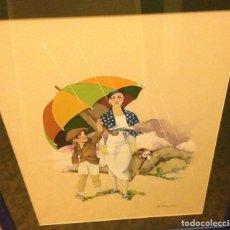 Arte: LLOVIENDO EN EL GOLF. Lote 79243373
