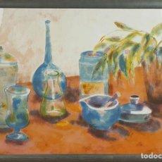 Arte: BODEGON DE VASIJAS. DIBUJO AL PASTEL SOBRE PAPEL. M. CASACOBERTA. SIGLO XX. . Lote 79278541
