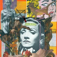 Arte: NOT GRETA GARBO. MARLENE DIETRICH. COLLAGE ORIGINAL. Lote 79765053