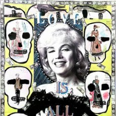 Arte: MARILYN MONROE COLLAGE. LOVE IS ALL AROUND. Lote 79769485