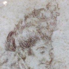 Arte: LA TIRANA. RETRATO DE MUJER. DIBUJO SOBRE PAPEL. ANÓNIMO. ESPAÑA. XIX. Lote 79279353