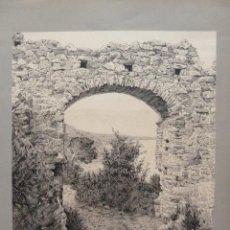 Arte: ENRIQUE SERRA AUQUÉ - DIBUJO ORIGINAL A PLUMILLA - ARCO ROMANO DE ALASSIO. Lote 80028181