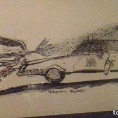 Arte: ILUSTRACIÓN MARC VYVYAN JONES ,THROWN TOGETHER. 1984,ORIGINAL. Lote 80402605