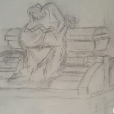Arte: DIBUJO - BOCETO, SOBRE PAPEL DE 30X40. Lote 80447202