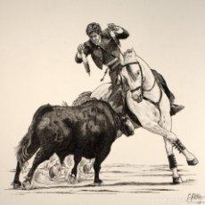 Arte: REJONEADOR-BANDERILLAS CORTAS-. Lote 80835879