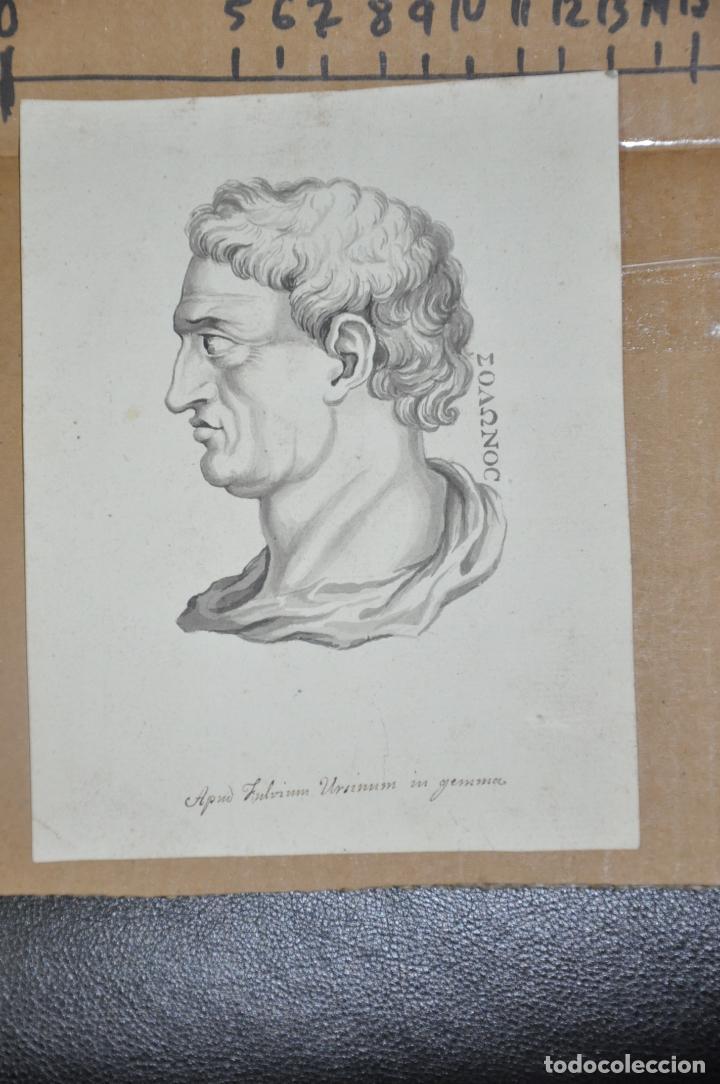 DIBUJO A LAPIZ , ANTIGUO Y ORIGINAL DEL S. XVIII (Arte - Dibujos - Antiguos hasta el siglo XVIII)