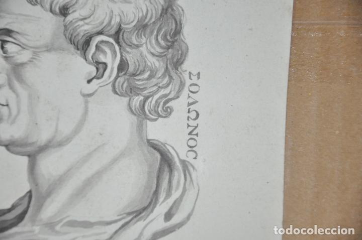 Arte: DIBUJO A LAPIZ , ANTIGUO Y ORIGINAL DEL S. XVIII - Foto 2 - 81221532