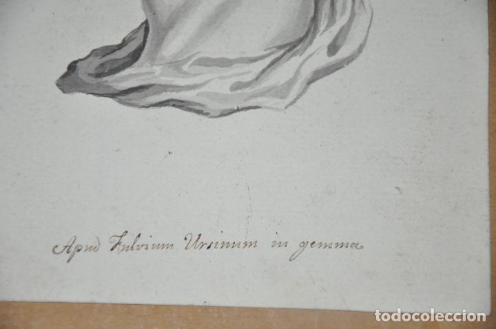 Arte: DIBUJO A LAPIZ , ANTIGUO Y ORIGINAL DEL S. XVIII - Foto 3 - 81221532