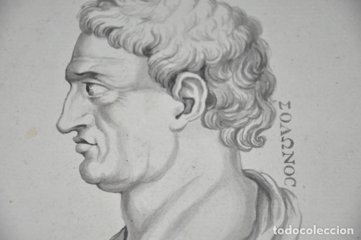 Arte: DIBUJO A LAPIZ , ANTIGUO Y ORIGINAL DEL S. XVIII - Foto 4 - 81221532