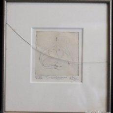 Arte: INTERESANTE DIBUJO, FIRMADO Y DEDICADO, 1971, FIRMA ILEGIBLE. ORIGEN NORUEGO. 28X30CM(CON MARCO). Lote 82428428