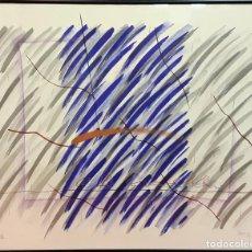 Arte: COMPOSICIÓN ABSTRACTA. DIBUJO. TÉCNICA MIXTA. FIRMA ILEGIBLE. ESPAÑA. 1999. Lote 82588764