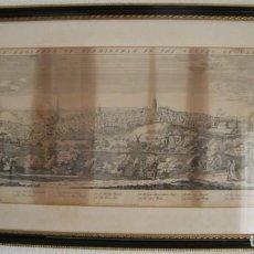 Arte: DIBUJO: THE EAST PROSPECT OF BIRMINGHAM IN THE COUNTRY OF WARWICK IMPORTANTE VER DESCRIPCION - MARCO. Lote 82730604