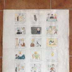 """Arte: DIBUJO DE VIÑETAS"""" TRABAJOS Y SINSABORES DE LOS FUTUROS PINTORES """" 1951 - 1952. Lote 82835823"""