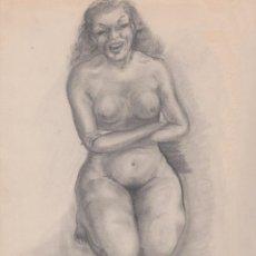 Arte: DIBUJO - DESNUDO FEMENINO 2. Lote 82845736
