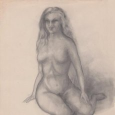 Arte: DIBUJO - DESNUDO FEMENINO 3. Lote 82846012