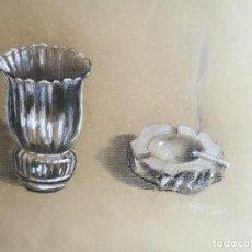 Arte: DIBUJO ORIGINAL CARBONCILLO LOPEZ POZO RAFAEL- (MANRESA 1940 ) . Lote 83885832