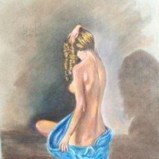 Arte: DIBUJO ORIGINAL CARBONCILLO LOPEZ POZO RAFAEL- (MANRESA 1940 ) . Lote 83885864