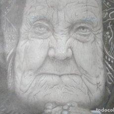 Arte: DIBUJO A LÁPIZ. RETRATO. 32 X 31 CM. FIRMADO MAC.. Lote 84299784