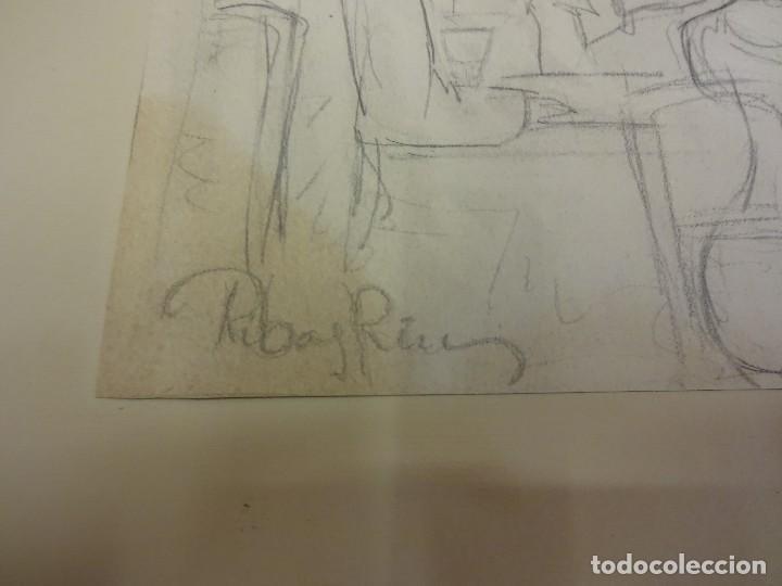 Arte: R. RIBAS RIUS. Dibujo de temática danza. Bailarina . Lápiz original. Med: 31 x 21 ctms. - Foto 2 - 84348504