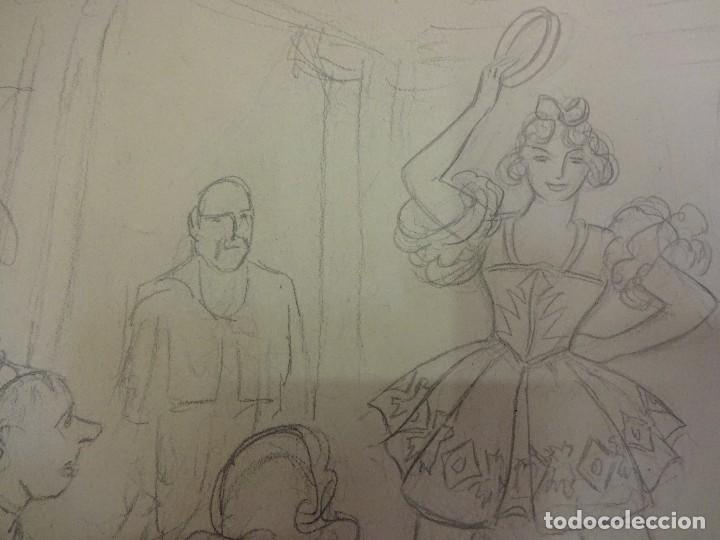 R Ribas Rius Dibujo De Tematica Danza Bailar Comprar Dibujos