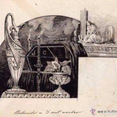 Arte: DIBUJO ORIGINAL A TINTA - FIRMA APELES MESTRES ? DEL LIBRO DE LUIS COLOMA MUERTE. Lote 84743428