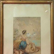 Arte: DEMÉTER / CERES. DIBUJO. TÉCNICA MIXTA. FIRMADO A.B. ESPAÑA (?). 1870. Lote 84941228