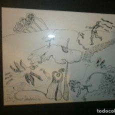 Arte: DIBUJO SOBRE PAPEL ANTONI SOLER PEDRET - ENMARCADO MEDIDA 30 X 26 CM. PAPEL 16,5 X 13 CM. . Lote 85453100