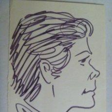 Arte: RETRATO DE UN TIPO , DE MIRÓ ( DE OTRO MIRÓ ).. 12 X 17 CM. Lote 136752964