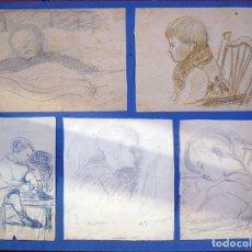 Arte: HENRI BOULAGE PINTOR POST IMPRESIONISTA MONMARTRE PARIS FRANCE FRANCIA LAPIZ. Lote 85457244